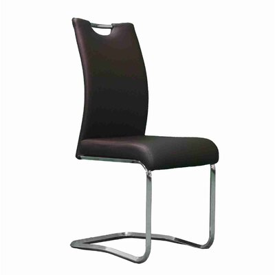 Strohl Upholstered Dining Chair Upholstery Color: Black