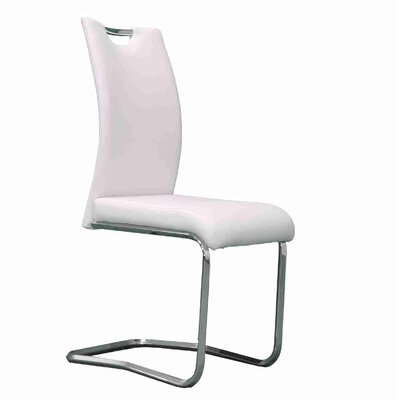 Strohl Upholstered Dining Chair Upholstery Color: White