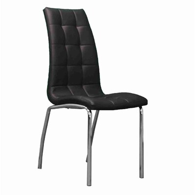 Strohm Upholstered Dining Chair Upholstery Color: Black