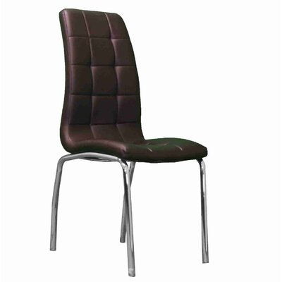 Strohm Upholstered Dining Chair Upholstery Color: Brown