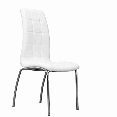 Strohm Upholstered Dining Chair Upholstery Color: White