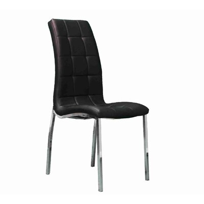 Stroman Upholstered Dining Chair Upholstery Color: Black