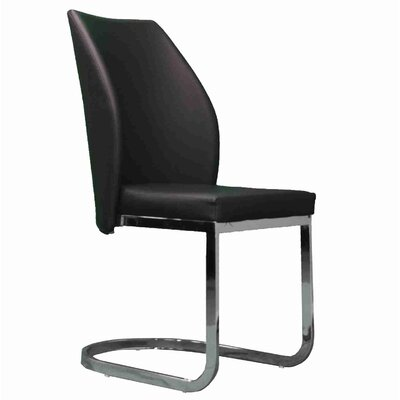 Stromberg Upholstered Dining Chair Upholstery Color: Black