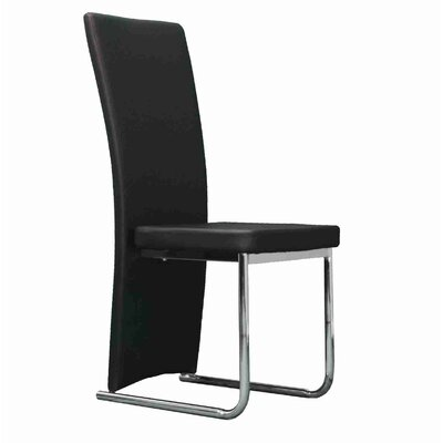 Strope Upholstered Dining Chair Upholstery Color: Black
