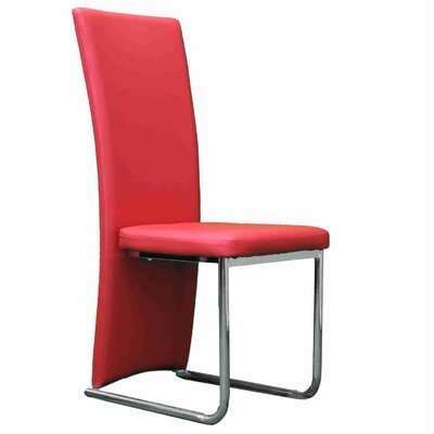 Strope Upholstered Dining Chair Upholstery Color: Red