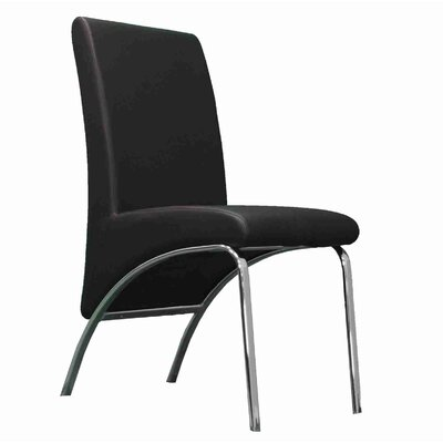 Strother Upholstered Dining Chair Upholstery Color: Black