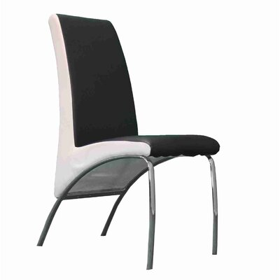 Strother Upholstered Dining Chair Upholstery Color: Black/White