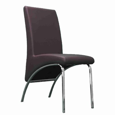 Strother Upholstered Dining Chair Upholstery Color: Brown