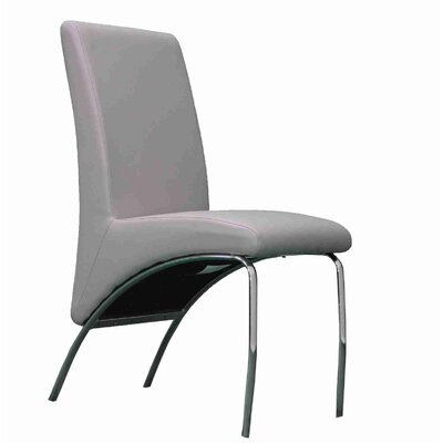Strother Upholstered Dining Chair Upholstery Color: Gray