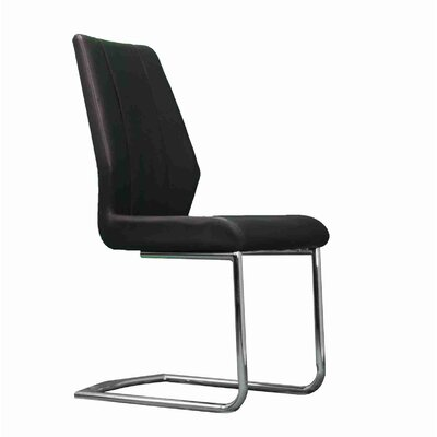 Stryker Upholstered Dining Chair Upholstery Color: Black