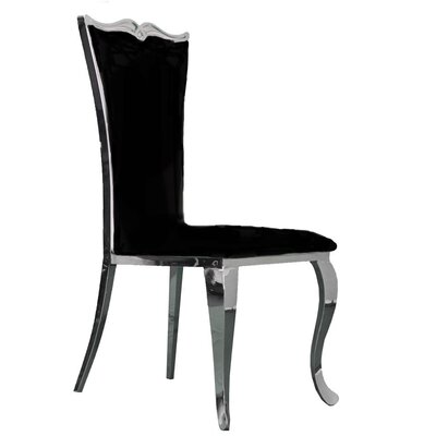 Morabito Upholstered Dining Chair Upholstery Color: Black