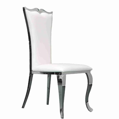 Morabito Upholstered Dining Chair Upholstery Color: White