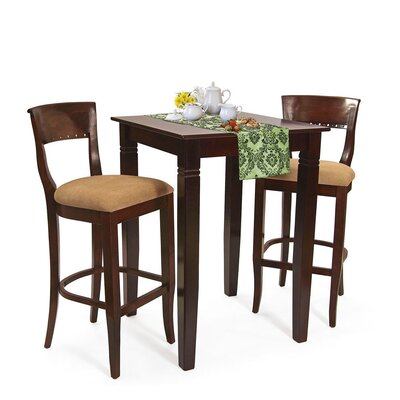 Beidremier 3 Piece Pub Table Set Finish: Medium Oak