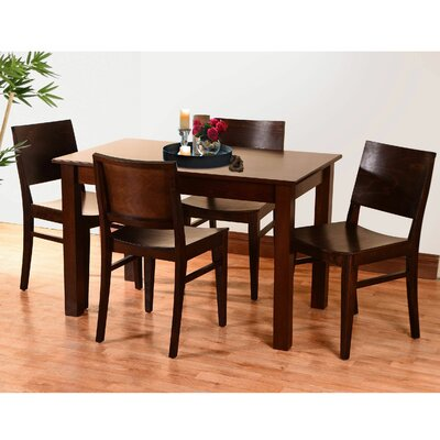 Tektas 5 Piece Dining Set Color: Walnut