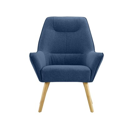 Downie Living Room Accent Armchair Upholstery: Dark Blue