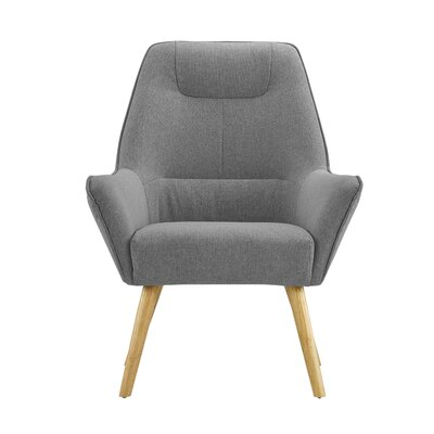 Downie Living Room Accent Armchair Upholstery: Dark Gray