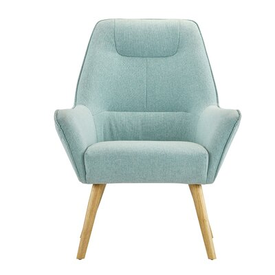 Downie Living Room Accent Armchair Upholstery: Light Blue