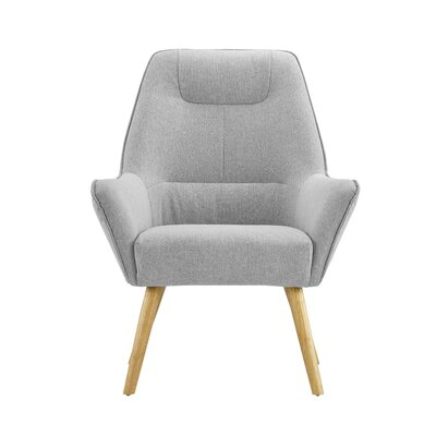 Downie Living Room Accent Armchair Upholstery: Light Gray