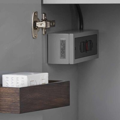 Electric Outlet Box Finish: Empire Gray