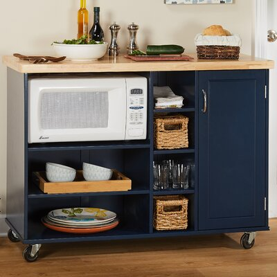 Drolet Microwave Cart Base Finish: Navy