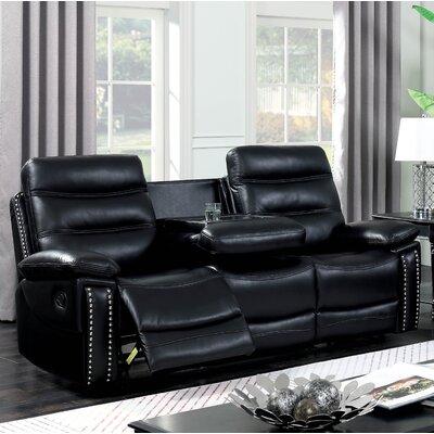 Mccurley Reclining Sofa Finish: Black