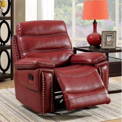 Mccurley Manual Recliner Color: Red