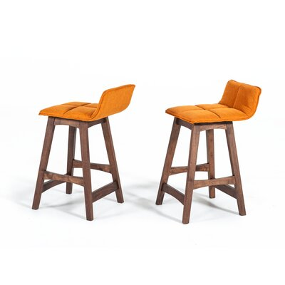 Schuyler 29 Bar Stool Upholstery: Orange