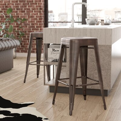 Malden 30 Bar Stool Finish: Gunmetal