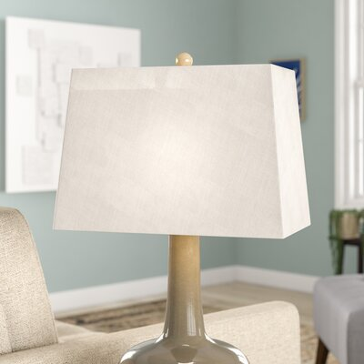 9 Linen Rectangular Lamp Shade Color: Gray