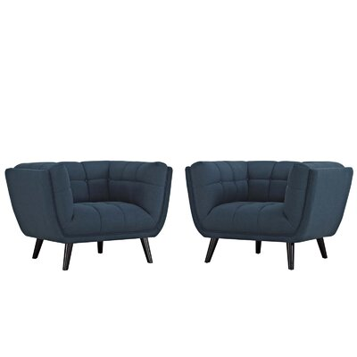 Tobias Armchair Upholstery: Polyester Blue