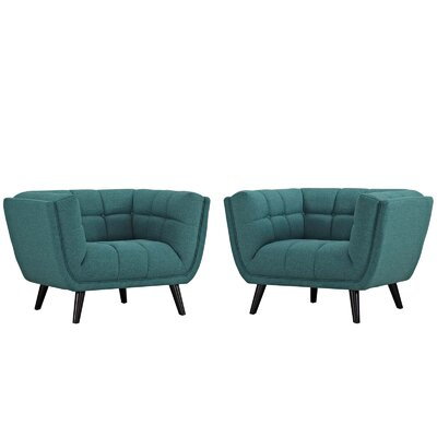 Tobias Armchair Upholstery: Polyester Teal