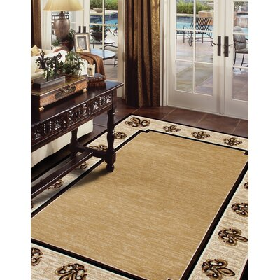 Christoper Fleur De Lis Beige Indoor Area Rug Size: Rectangle 22 x 37