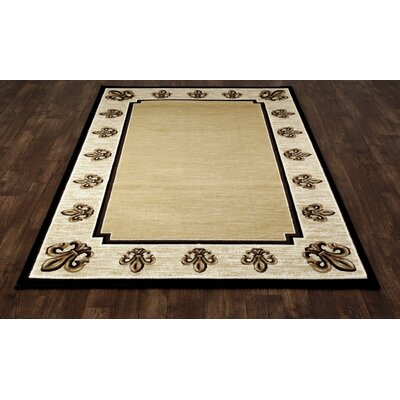Christoper Fleur De Lis Beige Indoor Area Rug Size: Rectangle 311 x 57