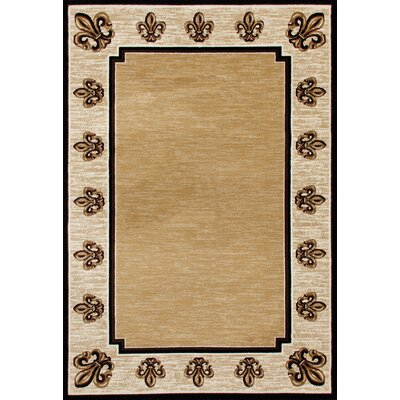 Christoper Fleur De Lis Beige Indoor Area Rug Size: Rectangle 53 x 77