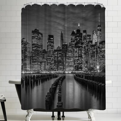 Melanie Viola Manhattan Skyline Evening Atmosphere Shower Curtain