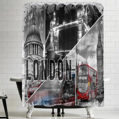 Melanie Viola London Urban Collage Shower Curtain
