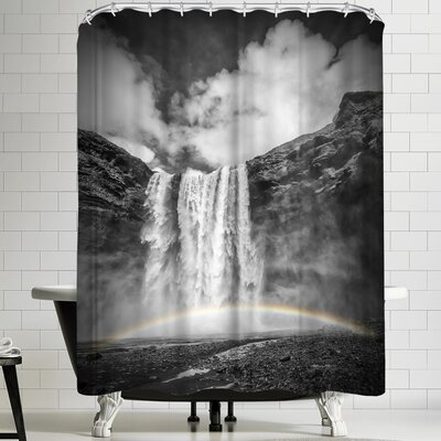 Melanie Viola Iceland Skogafoss Shower Curtain