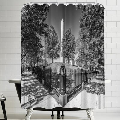 Melanie Viola Boston Monument Square and Bunker Hill Monument Shower Curtain