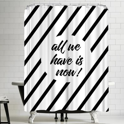 Melanie Viola All We Have is Now Cross Striped Shower Curtain