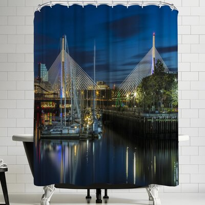 Melanie Viola Boston Bunker Hill Bridge Shower Curtain