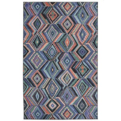 Poston Blue/Orange Area Rug Rug Size: Rectangle 8 x 10