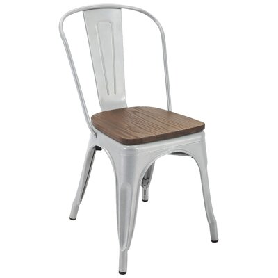Hoehn Dining Chair Color: Silver