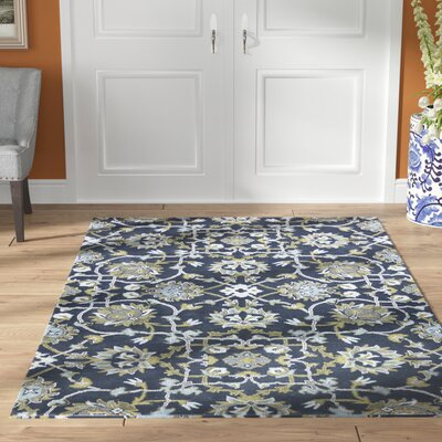 Bessie Hand-Tufted Gray/Blue Area Rug Rug Size: Rectangle 5 x 8