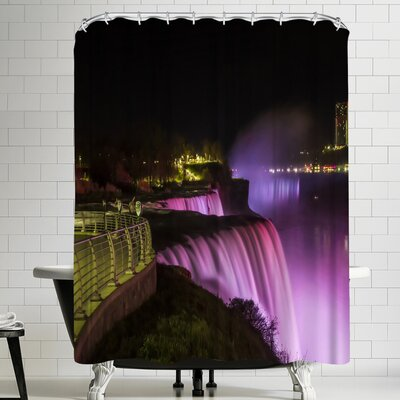 Melanie Viola Niagara Falls Nightscape Shower Curtain