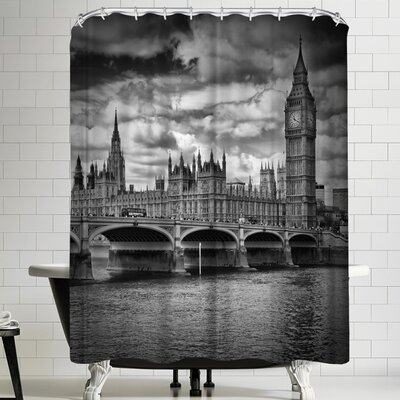 Melanie Viola London Houses of Parliament and Westminster Bridge Shower Curtain