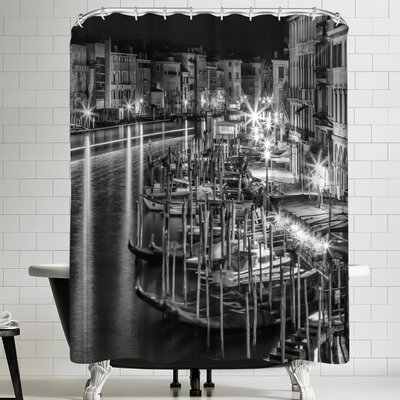 Melanie Viola Venice View From Rialto Bridge Shower Curtain