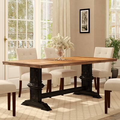 Fortville Dining Table Base Color: Antique Black