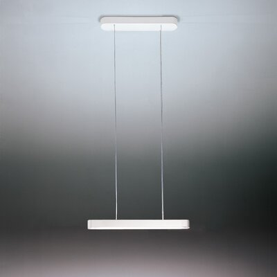 Talo 1-Light LED Kitchen Island Pendant Finish: White