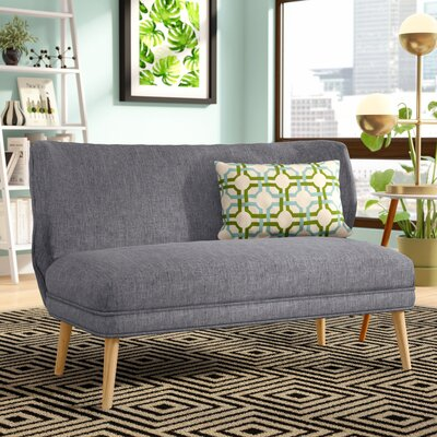 Raleigh Fabric Settee Upholstery: Light Gray