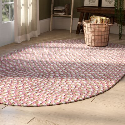 Boice Pink Area Rug Rug Size: Oval 5 x 8